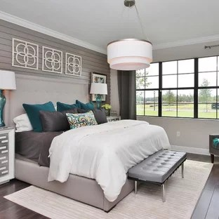 Turquoise And Gray Bedroom Ideas And Photos Houzz