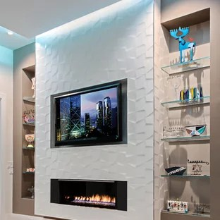 75 beautiful porcelain tile family room