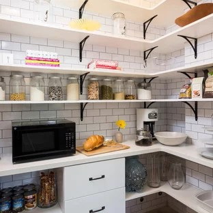 pantry with microwave houzz