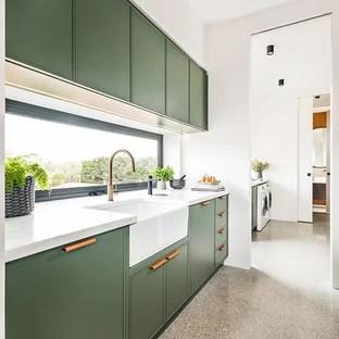75 Beautiful Kitchen Pantry With Window Backsplash Pictures Ideas January 2021 Houzz