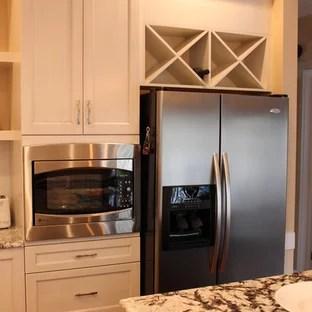 x wine rack over fridge houzz