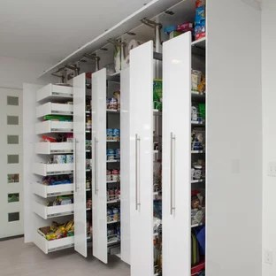 75 Beautiful Kitchen Pantry With Flat Panel Cabinets Pictures Ideas January 2021 Houzz