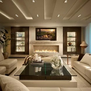 75 Beautiful Living Room With A Ribbon Fireplace Pictures Ideas January 2021 Houzz