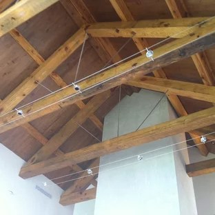 exposed rafter track lighting houzz