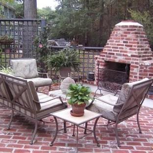 outdoor brick fireplace houzz