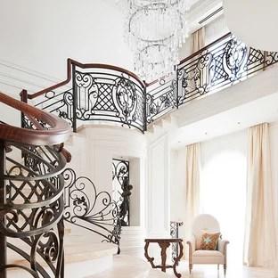White Wrought Iron Staircase Ideas Photos Houzz   Cast Iron Staircase Railing   Modern   Grill   Rod Iron   Floor   Interior