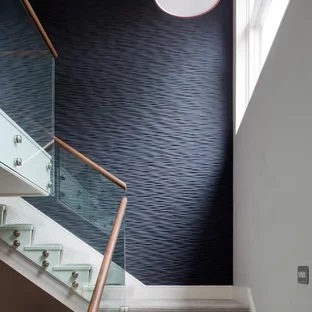 75 Beautiful Painted Staircase Pictures Ideas September 2020   Wall Painting Designs For Staircase   Simple   Decorative   Two Tone   Modern   Hall Nature