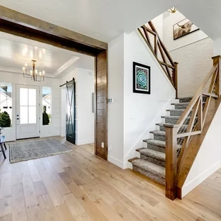 75 Beautiful Carpeted Staircase Pictures Ideas Houzz | Carpeting For Stairs Residential | Spiral Stair | Communal Stairway | Commercial | Houzz | Waterfall Stair