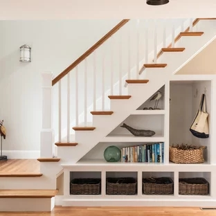 75 Beautiful Staircase Pictures Ideas September 2020 Houzz | Pop Design For Stairs Wall | Frame Up | Main Entrance | Wall Paper | Entry Wall | Luxury