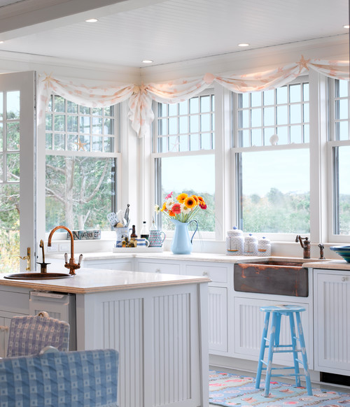 as timeless as black and white beadboard is perfect for rustic farmhouse or beach style kitchen designs it also adds a smidgen of detail without