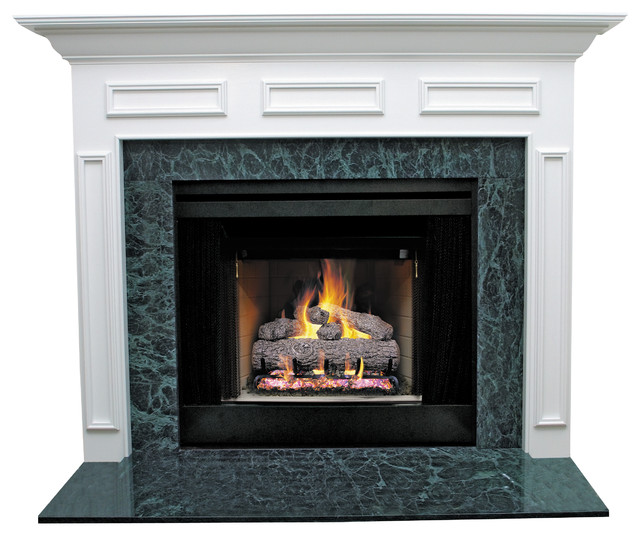 Litchfield Ii Mdf Primed White Fireplace Mantel Surround