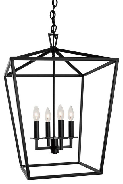 Cage Pendant Bronze Transitional Lighting