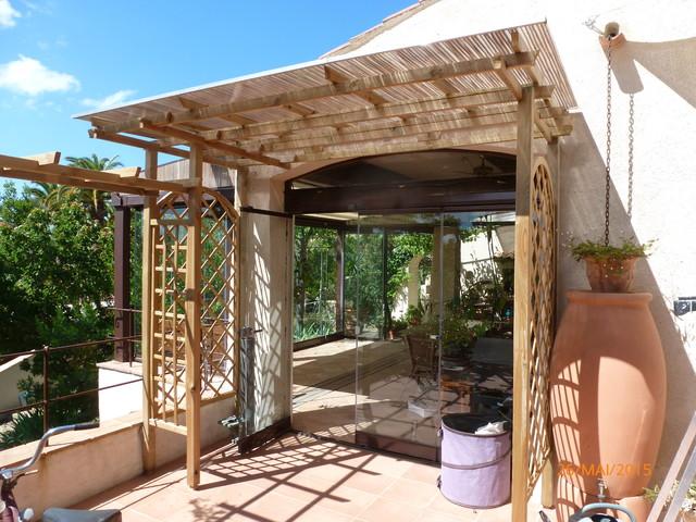 Extension De Terrasse Avec Pergola Toiture Vlum