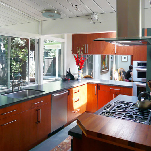 Klopf Architecture Kitchen With Pass Through