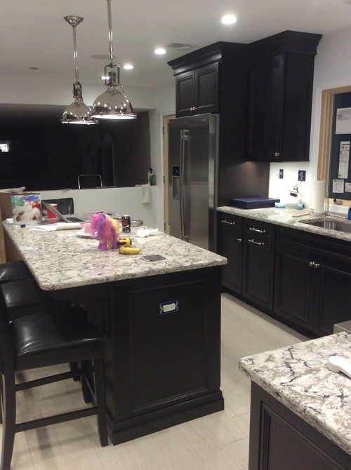 Quartz Kitchen Countertops Grey