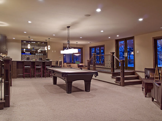 Edina Country Club Custom Designed Home Modern Basement Minneapolis By Schrader Amp Companies