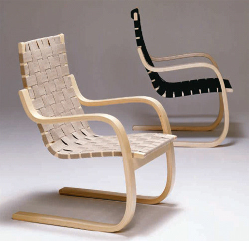 "Artek Alvar Aalto - Lounge Chair 406, 1939. (Also called ""Pension Chair"")"