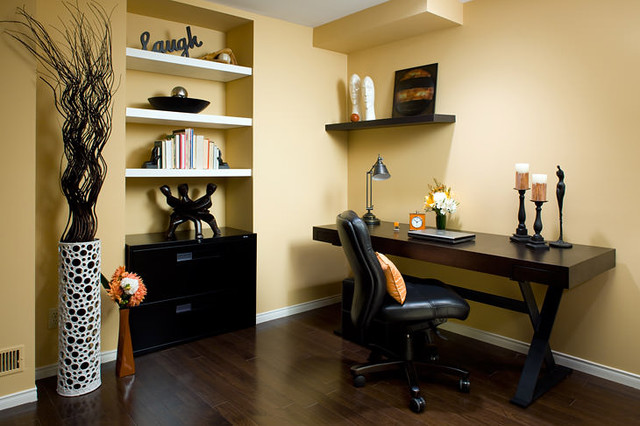 Jane Lockhart Yellow Home Office - Modern - Home Office ...