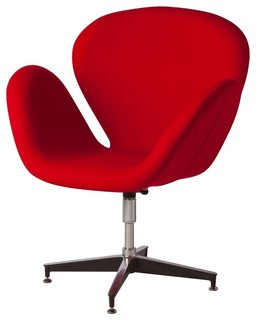 upholstered quot big red chair quot contemporary armchairs and accent
