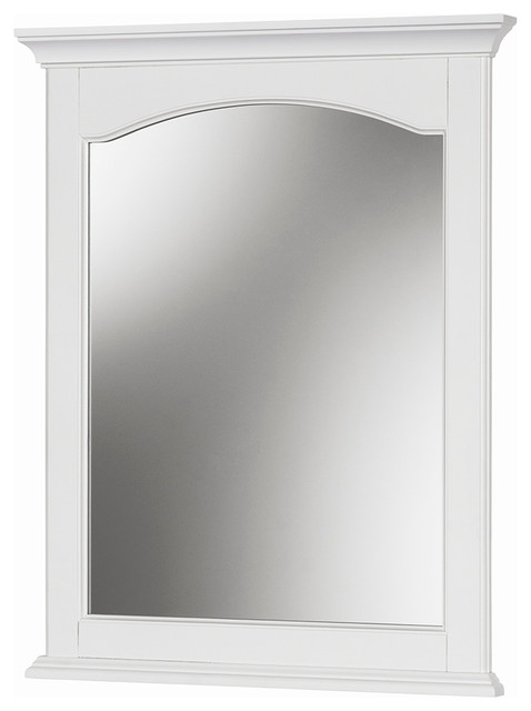 "alonzo white wall mirror, 24""x30"" - transitional - bathroom"