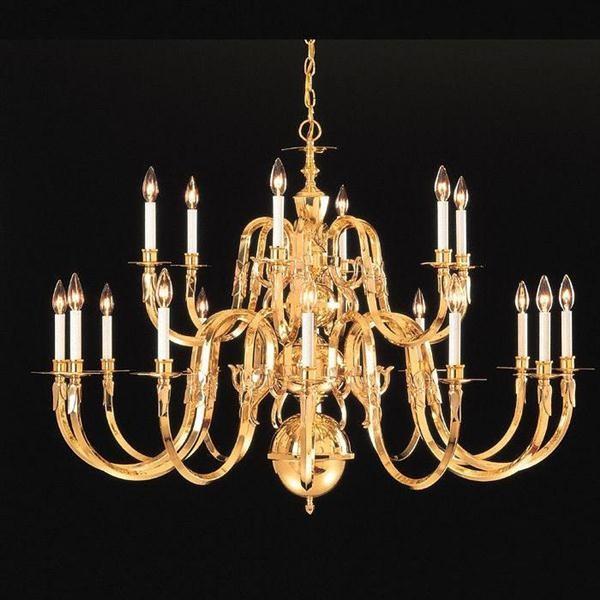 Crystorama 419 60 18 Solid Brass Chandelier Williamsburg Collection Chandeliers
