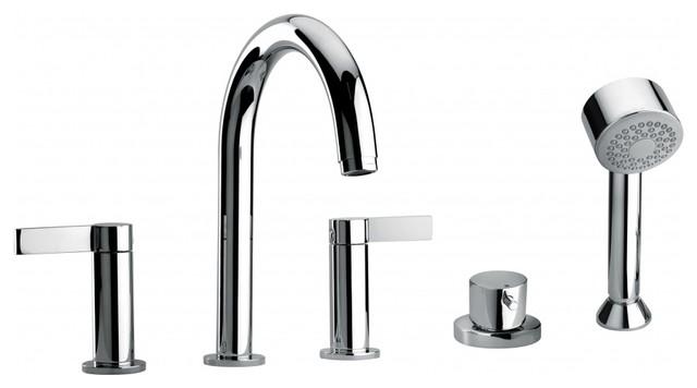 modern bathroom roman bathtub faucet hand shower sprayer diverter tub filler