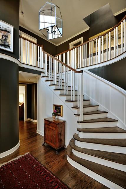 Entry Traditional Staircase Seattle By Paula Devon Raso Interior Design