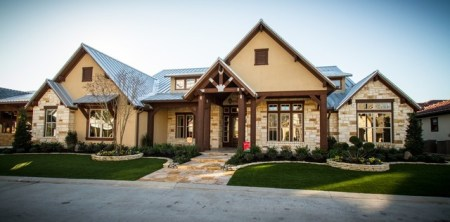 The Cross Creek   Rustic   Exterior   Houston   by Design Tech Homes Design Tech Homes      Home Builders  The Cross Creek rustic exterior