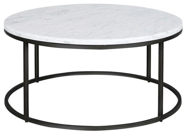 palliser furniture julien round cocktail table black base white marble top