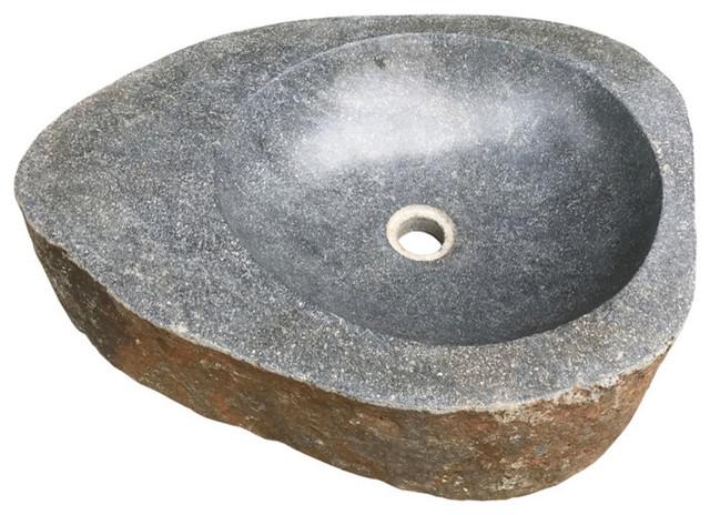 natural boulder granite bathroom sink grigio river rock design 24 polished