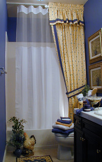 French Country Bathroom In Yellow Traditional Bathroom