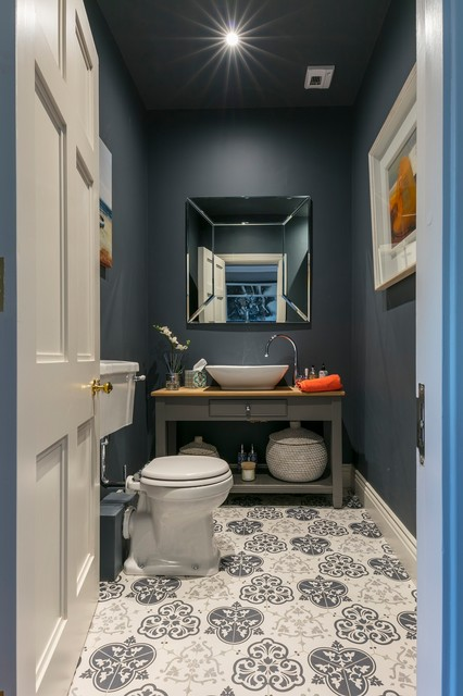 Small Downstairs Toilet Wc Contemporary Powder Room
