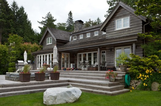 Bowen Island Waterfront Traditional Exterior