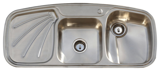 vintage style 304 stainless steel farm sink drainboard double basin kitchen sink