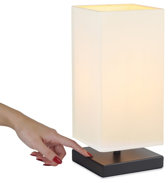 Revel Kira Home Lucerna 13 Modern Touch Bedside Led Table Lamp 4w Bulb Transitional Table Lamps By Modum Decor