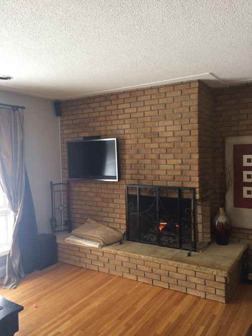 50s Floor To Ceiling Fireplace Update