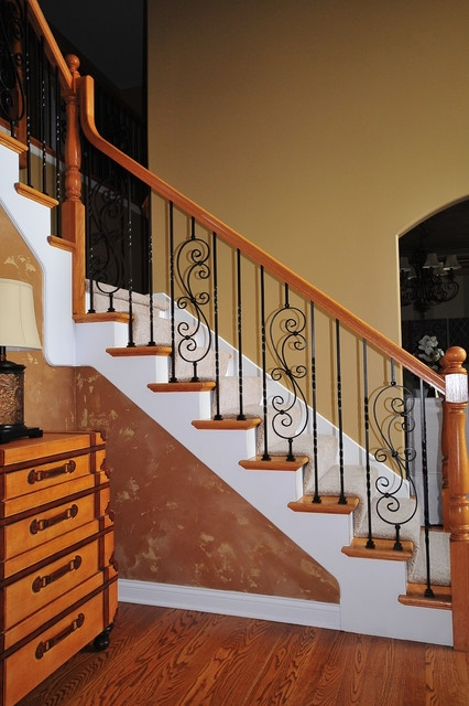 Wrought Iron Baluster Upgrade | Stair Banisters For Sale