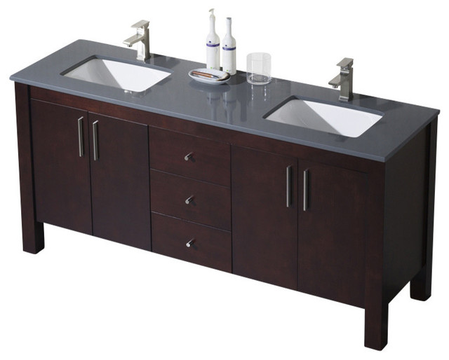 Inolav Parsons 72 Double Vanity View In Your Room Houzz