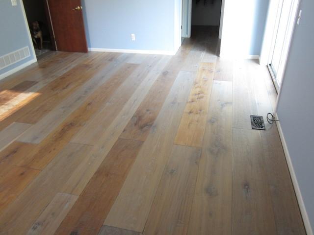 Oil Finished Handscraped Wide Plank Hardwood Floors
