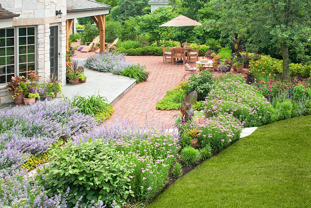 french country garden traditional landscape chicago by k amp d landscape management