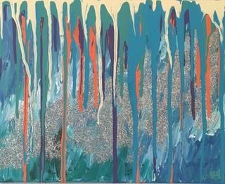 """Rip Currents On The Glistening Ocean"" Original Artwork by Meagan Johnson"