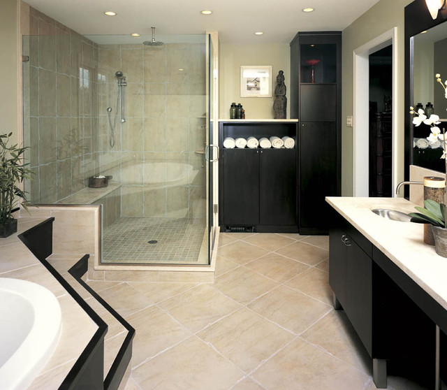 Asian Inspired Bath Contemporary Bathroom