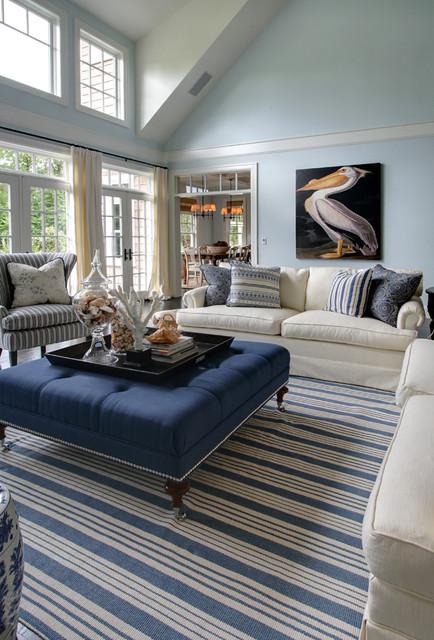 West Coast Hampton beach-style-living-room