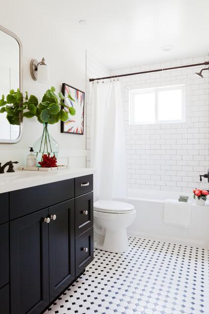 Silver Street transitional-bathroom