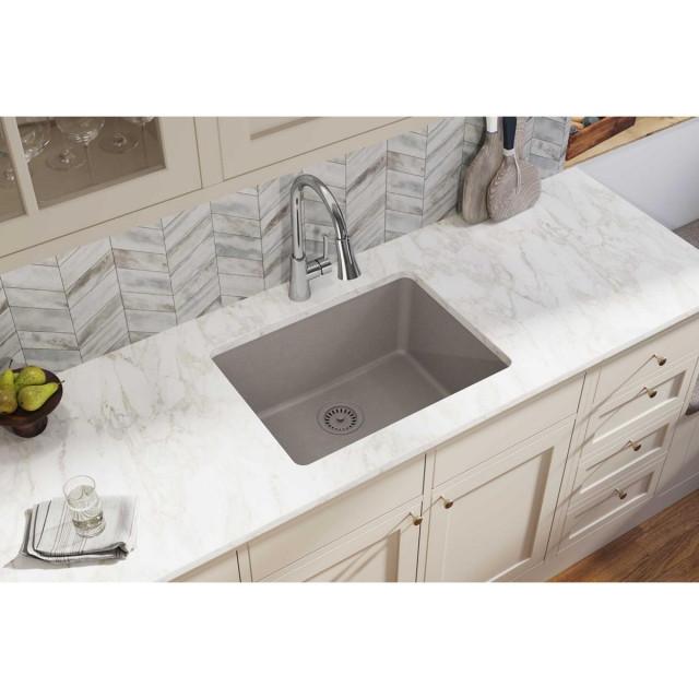 elgu2522gr0 quartz classic 24 5 8 x 18 1 2 undermount sink greige