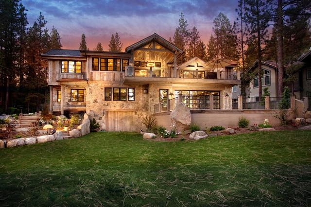 Lake Tahoe Dream Home Rustic Exterior San Francisco