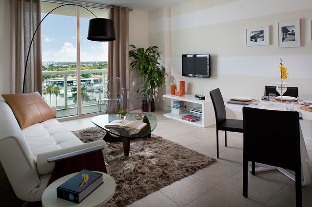 River Oaks Marina + Tower Model Unit modern-living-room