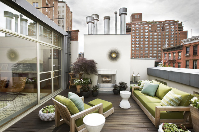 roof top terrace contemporary-deck
