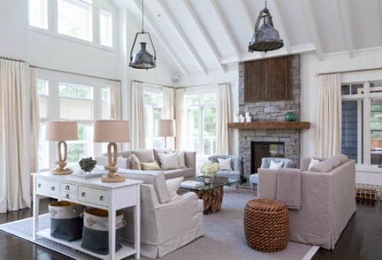 coastal cottage style living room