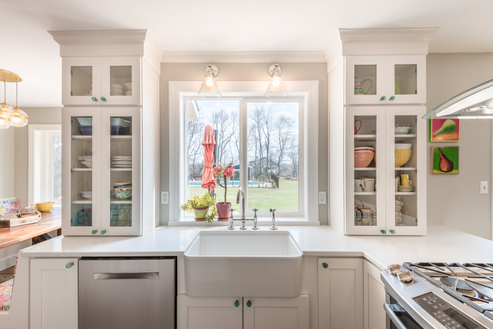 Modern Farmhouse With A Touch Of Glam Farmhouse Kitchen Other By Curtis Lumber East Greenbush